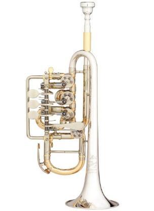 Meister J. Scherzer Piccolotrompete, Mod. 8112 ST - L, Neuware / OVP