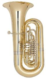 Miraphone 496 Hagen 5/4 Tuba in BBb aus Goldmessing inkl. Miraphone Gigbag. Neuware
