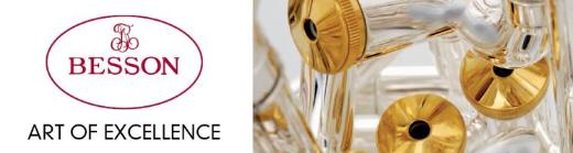 Besson B - Trompete aus Goldmessing inkl. Koffer und Mundstück - Hagenburg