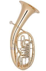 Miraphone Loimayr Deluxe Tenorhorn, 4 Ventile, Mod. 47 WL4 aus Goldmessing mit Neusilberkranz und Trigger