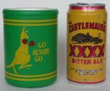 Bierdosenkühler aus Australien + Dose Castlemain XXXX