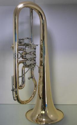 Melton Meisterwerk Konzert Flügelhorn. Goldmessing Sonderanfertigung. Neuware - Hagenburg