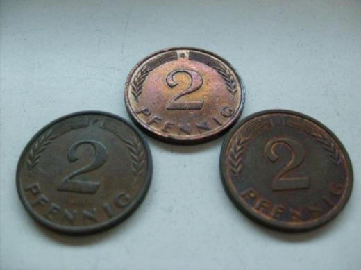 2 Pf 1958 F,G,J s.Bilder