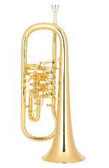 Miraphone 25R Konzert - Flügelhorn aus Goldmessing echt vergoldet