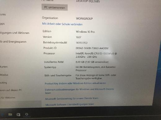 "Lenovo ThinkPad P50 15,6"" Notebook 4K Ultra HD Xeon E3-1505M 8GB - Hausen (Niederbayern)"
