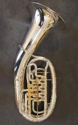 Melton Meisterwerk Bariton MWB34T-S-AU mit Trigger und Handstütze, versilbert und vergoldet. NEU
