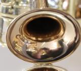 Deutsche Drehventil Konzert - Trompete in B Goldmessing mit Koffer - Hagenburg