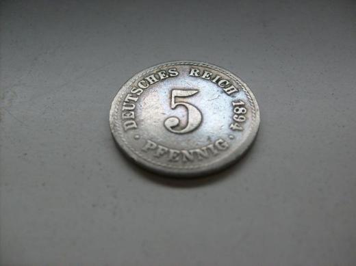 5 Pf 1894 A Deutsches Reich - Münster