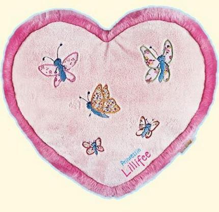 Flauschiges Prinzessin Lillifee-Herzkissen mit Geheimfach - ein schönes Deko für jedes Prinzessinnen Bett