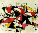 Spiel mit Form und Farbe 1 und 2 - Grafik  Original Ingrid Wolff-Bleekmann - Münster
