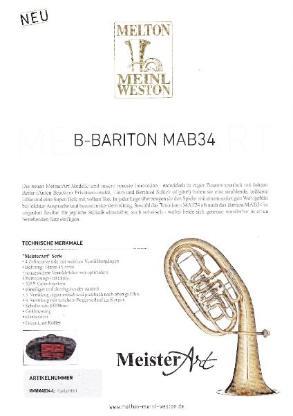 "Melton / Meinl Weston ""MeisterArt"" Bariton MAB34 Goldmessing, 4 Ventile, Neuheit - Hagenburg"