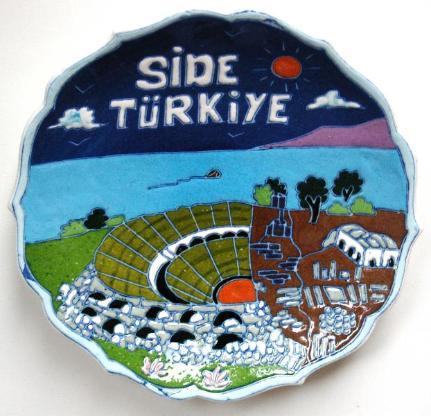 Wandteller aus Side/Türkei