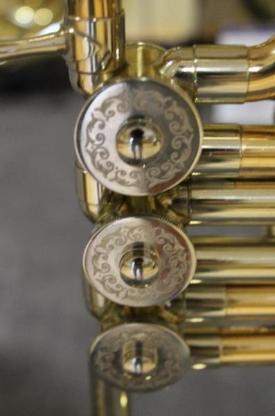 Original B&S Goldmessing Bb Tenorhorn, Modell 3032/2 mit Gigbag - Hagenburg