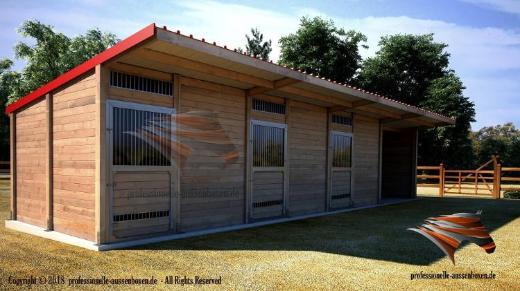 Außenboxen, Pferdeställe, Pferdeboxen, Weidehütte, Offenstall - Kolbingen