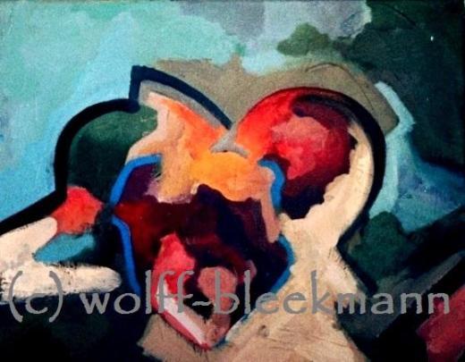 Es ist was es ist I - Acryl auf Leinwand 50 x 40 cm Original Ingrid Wolff-Bleekmann