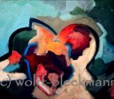 Es ist was es ist I - Acryl auf Leinwand 50 x 40 cm Original Ingrid Wolff-Bleekmann - Münster