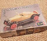 1929 Ford Model A Roadster - ungebauter antiker Modellbausatz aus den 70er Jahren - Coesfeld