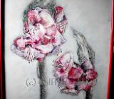 Amaryllis 2012 - Ingrid Wolff-Bleekmann Ölpastellkreiden auf Aquarellpapier 50 x 60 cm Original - Münster