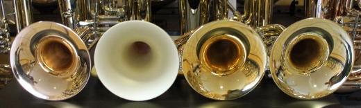 Dotzauer 3060 weite Goldmessing Basstrompete. Neuware / OVP - Hagenburg