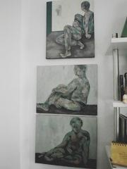 Modell II/Acryl auf Leinwand 50 x 40 cm Original Ingrid Wolff-Bleekmann - Münster