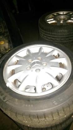 215 55 16 9mm Allwetter Alufelgen Mercedes 5 Loch