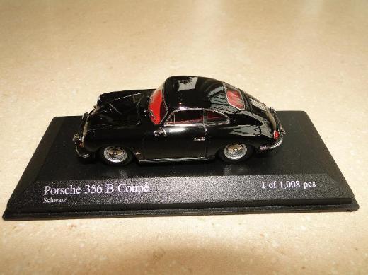 Minichamps, 1961 Porsche 356 B Coupé, schwarz, 1:43