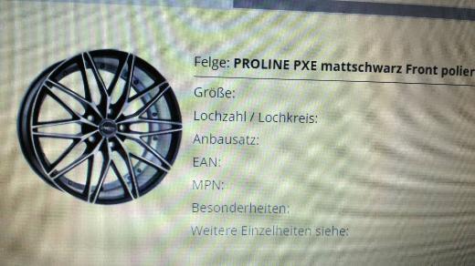 """Neu!! 4x 18"""" Alufelgen, mattschwarz, Front poliert, Modell: PXE von PROLINE - Osnabrück"""