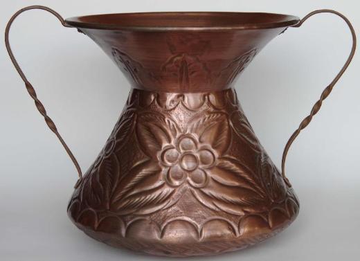 Kupfer-Gefäß mit Relief, Handarbeit aus Italien - Münster