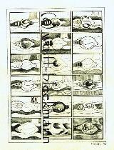 Mittelpunkt 2 - Grafik 21,5 x 30,5 cm Original Ingrid Wolff-Bleekmann