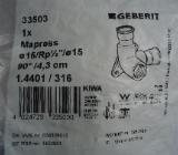 "Mapress Wandscheibe 15mm x 1/2"" x 15mm (doppelt) 33503 Geberit Edelstahl, Pressfitting, Neu & OVP - Münster"