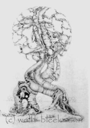 Traumwelt - Graphit auf Papier 40 x 50 cm Original Ingrid Wolff-Bleekmann - Münster