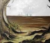 Wandel, Öl auf Leinwand, 59 x 79 cm mit Rahmen, Original, Unikat, Ingrid Wolff-Bleekmann - Münster