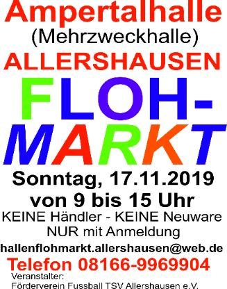 Großer Hallenflohmarkt Allershausen