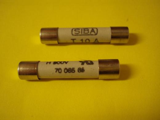 SIBA, Geräte-Sicherung, Überspannungsschutz, 10A, 500V, 63 x 32 mm - Münster