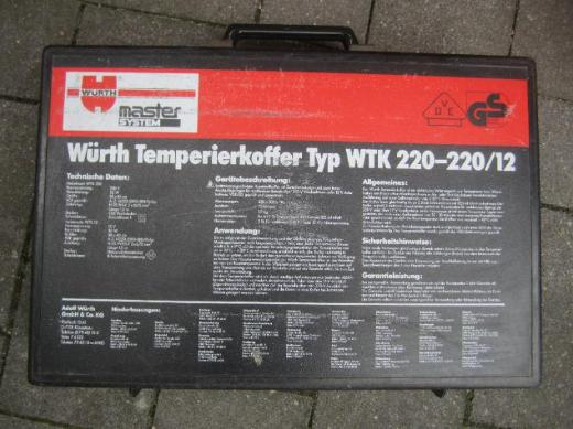 Würth Temperierkoffer