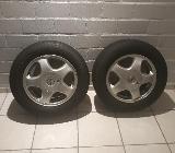 Opel-Alufelgen mit Reifen zu verkaufen - Neuenkirchen (Kreis Steinfurt)