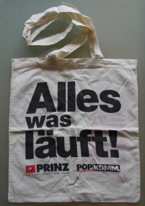 PR-Tragetasche zur Popkomm in den 90er-Jahren in Köln. - Münster