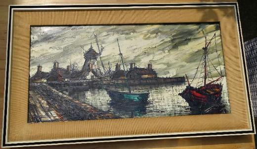 Ölgemälde - Hafen