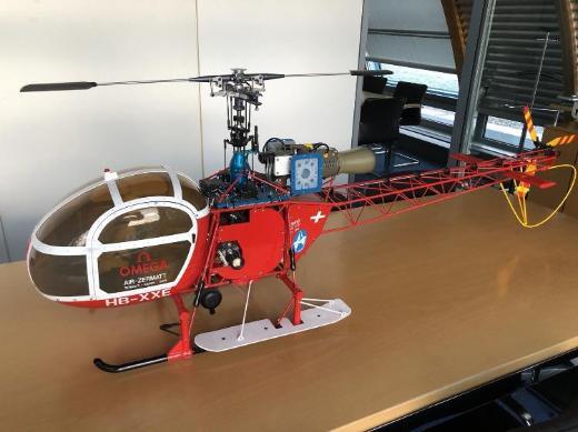 SSM LAMA mit ZG23 Benzinmotor Helikopter, 1,8 m Rotordurchmesser