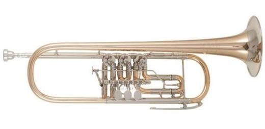 Meister J. Scherzer 8211 Konzert-Trompete mit Neusilberkranz, Neuware - Hagenburg