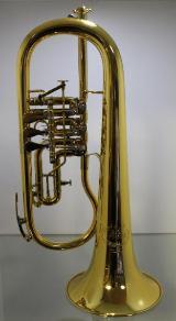 B & S Konzertflügelhorn. Goldlack - Einzelanfertigung. mit Tonausgleichstrigger, Neuware / OVP