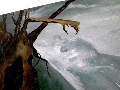 Norwegen-Impression - Öl auf Leinwand  60 x 70 cm Original Ingrid Wolff-Bleekmann - Münster