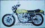 Honda CB 750 Four, Kunstdruck 1/5 Leinwand/Keilrahmen 40 x 25 cm Ingrid Wolff-Bleekmann