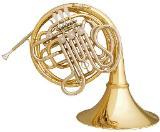 Meister Hans Hoyer 6801 GA - L Heritage Doppelhorn, Goldmessing, Neuware