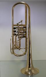 Meister J. Scherzer Profiklasse Konzert - Trompete 8228 AU - echt vergoldet