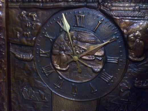 Kupferbild mit Uhr - Wildeshausen