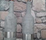 Vasen, Dekoration- Upcycling aus Weinflaschen in Betonoptik in Bremen bei STEHhübsch Kunsthandwerk & Wohndeko - Bremen