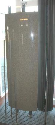 Heizkörper Wandheizkörper Jaga Geo Natursteingranulat vertikal, 500x30x1500mm, Natursteingranulat, Ausstellungsstück - Wagenfeld
