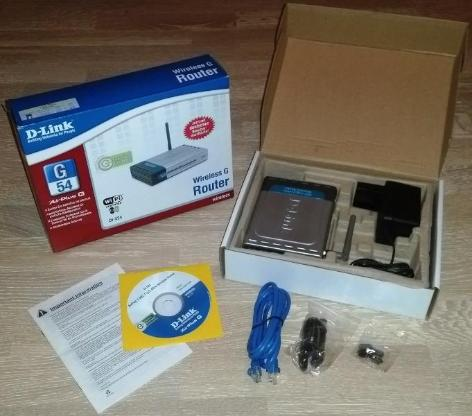 D-LINK AirPlusG DI-524 - Wireless G Router - 54 Mbps - Oyten
