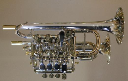 Meister J. Scherzer Piccolotrompete, Mod. 8111ST-L, Sterlingsilber, Neuware / OVP - Bremen Mitte